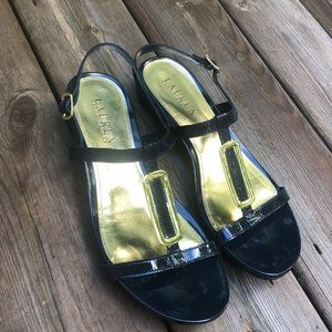 Gold and black sandals Lauren Ralph Lauren